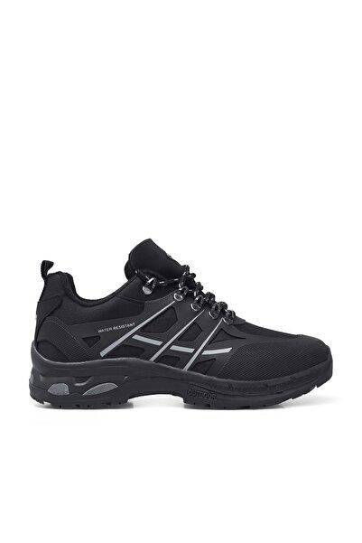 Erkek Siyah Su Geçirmez Kışlık Ayakkabı Hawk E