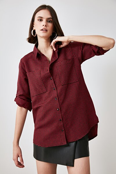 Bordo Kazayağı Gömlek TWOAW21GO0855