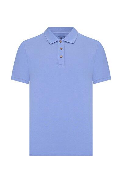 Erkek Mavi Polo Yaka T-Shırt