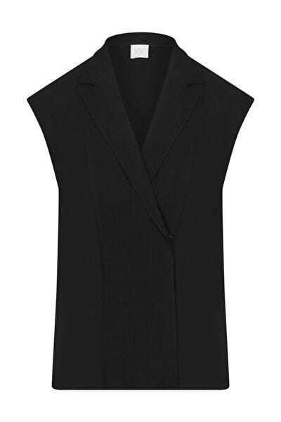 Siyah Anvelop Kolsuz Bluz