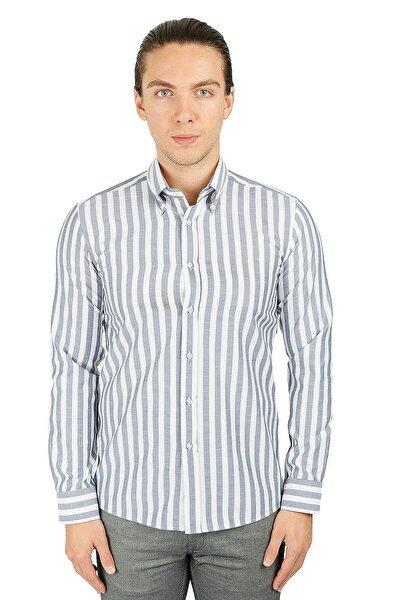 Slim Fit Uzun Kol Gömlek 20-0268