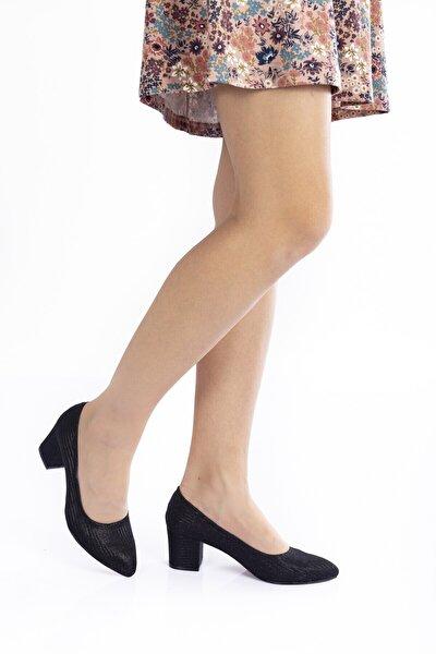 Kadın Siyah Klasik Ayakkabı 702cnr