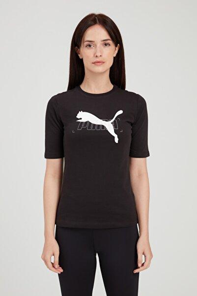 NU-TILITY TEE Siyah Kadın T-Shirt 101119434