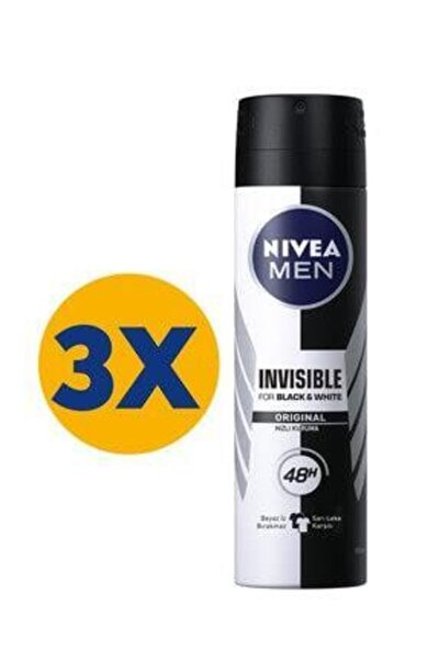 Int Nıvea Deo Bay 150 Ml Invısıble Black&whıte X3