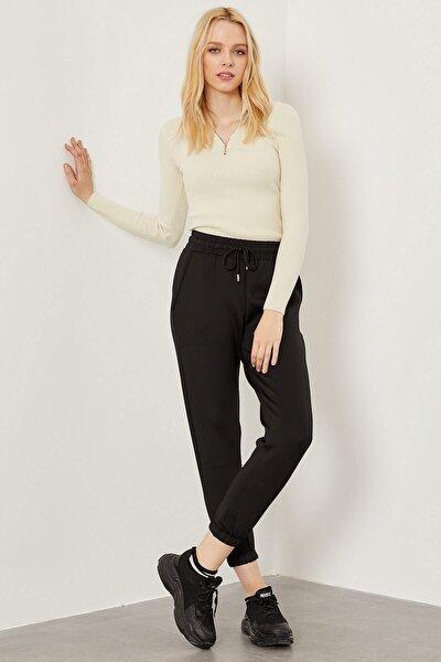 Kadın Siyah Dalgıç Kumaş Pantolon