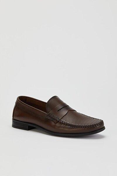 Versay06 Erkek Hakiki Deri Casual Ayakkabı