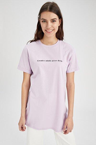 Modest Relax Fit Kısa Kol Tişört Tunik