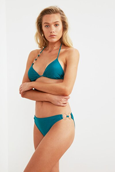 Petrol Aksesuarlı Bikini Altı TBESS21BA0270