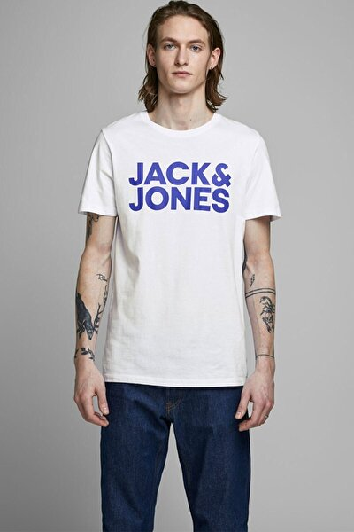 Erkek Beyaz Jjecorp Logo O Yaka Tshirt 12151955sg
