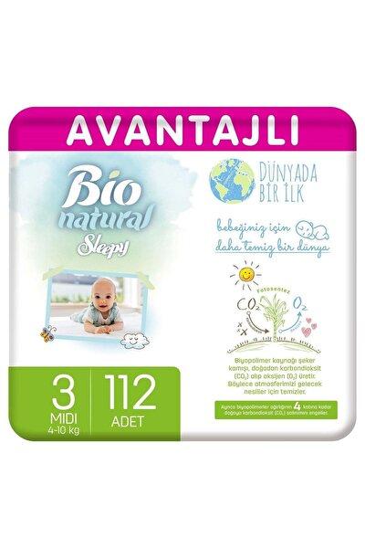 Bio Natural Avantajlı Bebek Bezi 3 Numara Midi 112 Adet