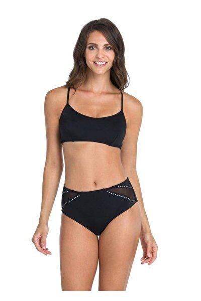 Kadın Siyah Straplez Bikini Takımı 19022Bk  B0119Y0056