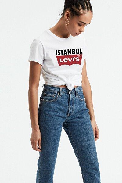 Levıs Kadın Istanbul Baskılı Beyaz T-shirt 74309-0237