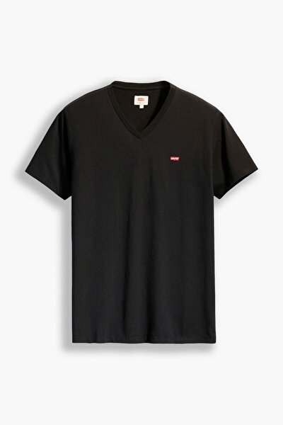 Erkek  Orıg Hm Vneck Lse_Mıneral Black Blacks T-Shirt 85641-0016
