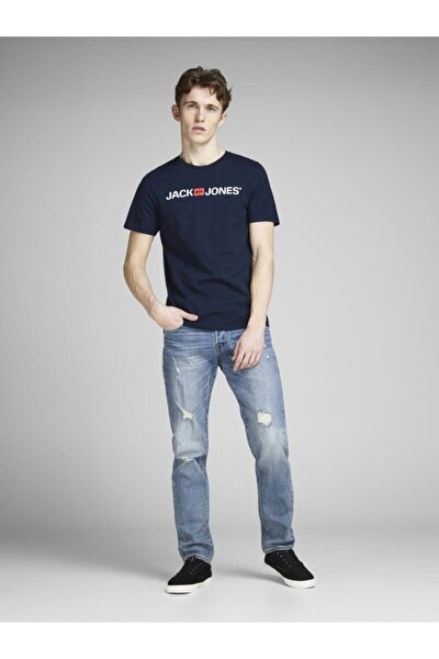 12137126 Erkek Jjecorp Logo Tee Ss Crew Neck Noos T-shirt