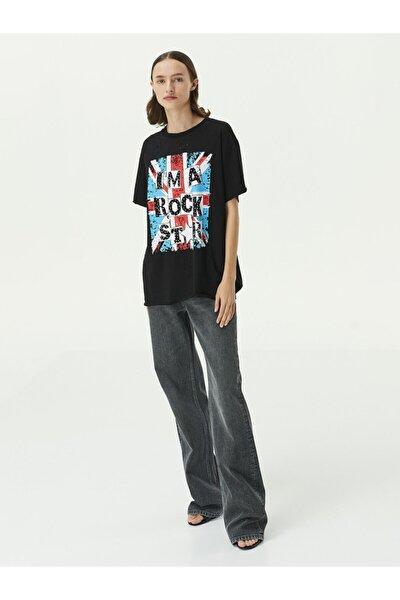 Slogan Baskılı T-shirt