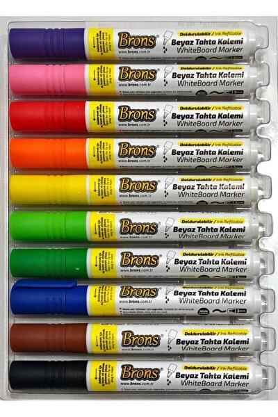 Doldurulabilir Beyaz Tahta Kalemi 10 Renk Set
