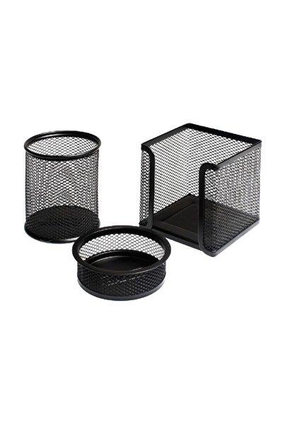 Lotte Metal Perfore 3`lü Set Siyah Fx