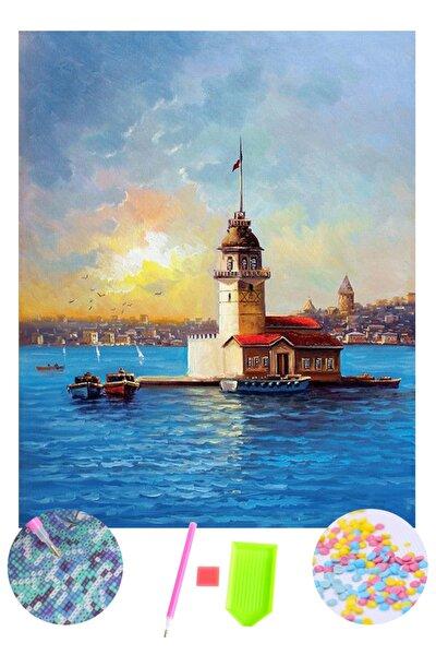 5d Elmas Boyama Kız Kulesi Diamond Painting Kit 50x70 cm