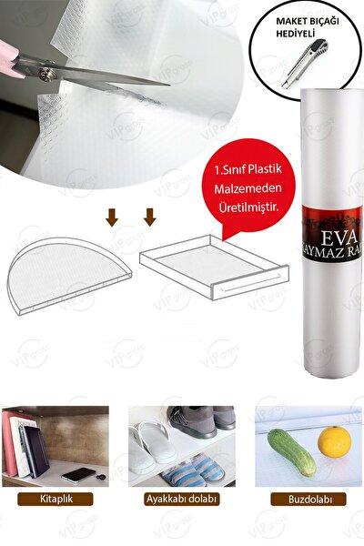 Eva Kaymaz Şeffaf Dolap İçi Örtüsü / Kaydırmaz Raflık Çok Amaçlı Mutfak Raf Örtüsü 45 X 10
