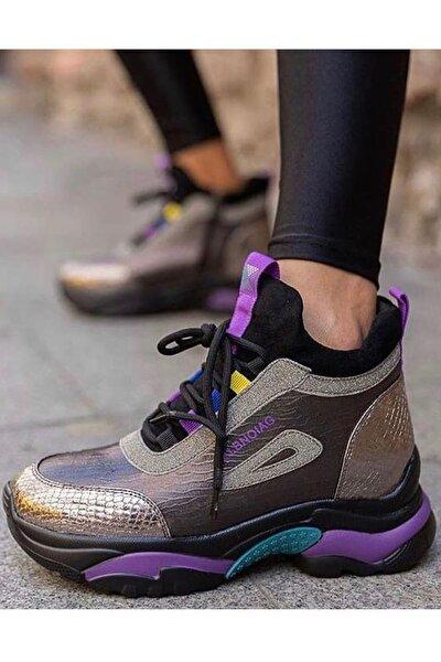 20k385 Ortopedi Taban Kadın Bot Ayakkabı