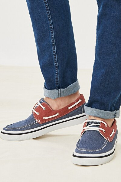 Erkek Lacivert-Kırmızı Casual Rahat Ayakkabı