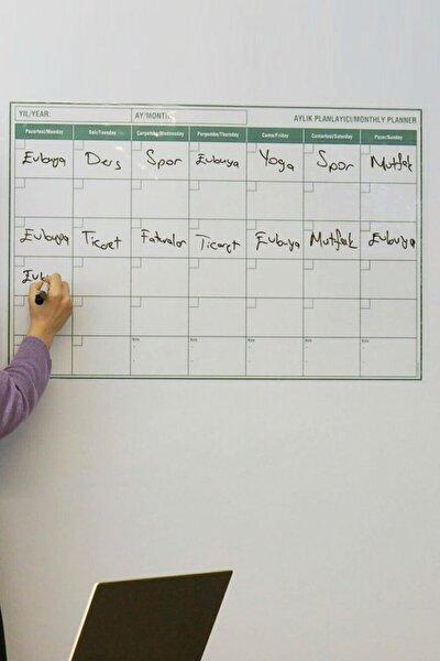 Planlayıcı - Yapışkansız Tutunan Akıllı Kağıt & Silgili Tahta Kalemi Hediye