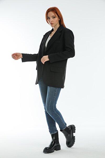 Siyah Kadın Blazer Ceket