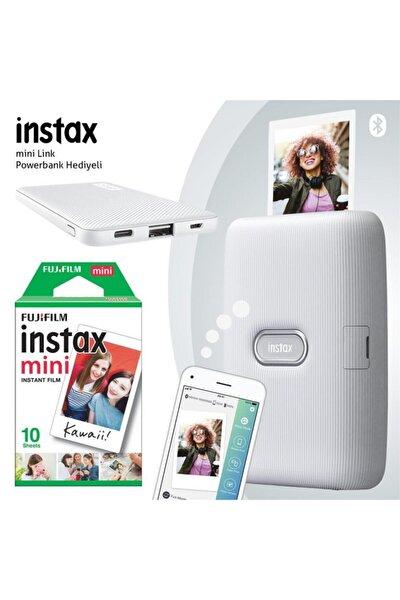 Instax Mini Link Beyaz Akıllı Yazıcı - 10'lu Mini Film Ve Powerbank Hediyeli-fotsı00110-10-p