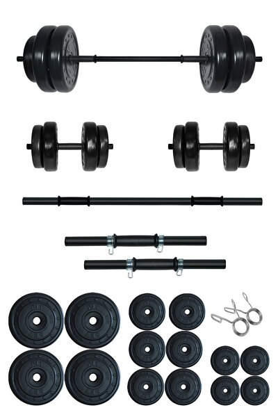 85 kg Kombo Halter Seti ve Dambıl Seti Ağırlık Fitness Seti