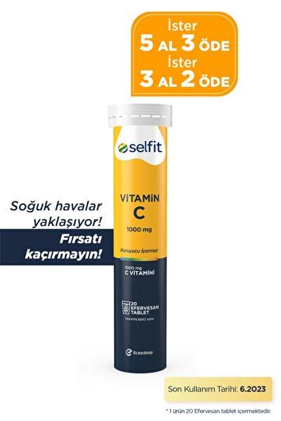 Vitamin C 1000 Mg 20 Efervesan Tablet - SKT: 06.2023