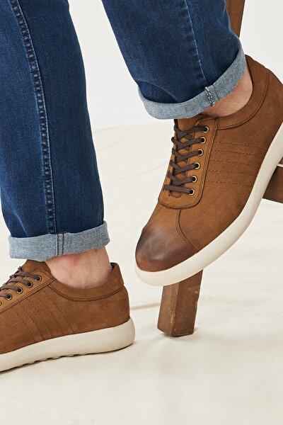 Erkek Tütün Casual Rahat Deri Ayakkabı