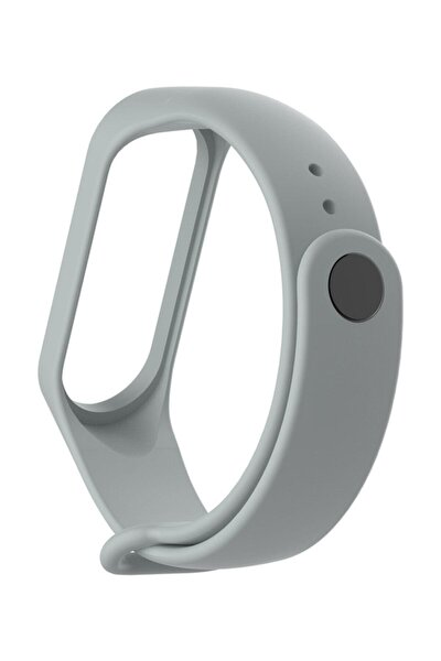 Xiaomi Mi Band 3/4 Uyumlu Kordon Kayış Akıllı Saat Kordonu - Gri