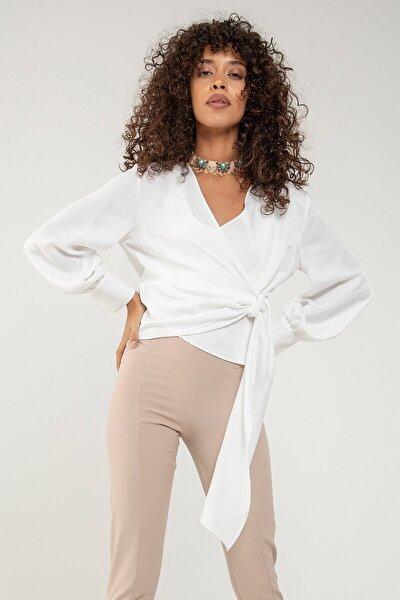Kadın Ekru Anvelop Bluz