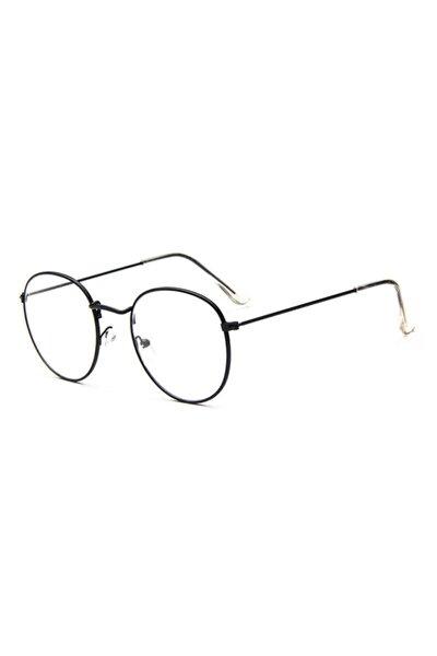 Unisex Oval Gözlük Şeffaf Cam