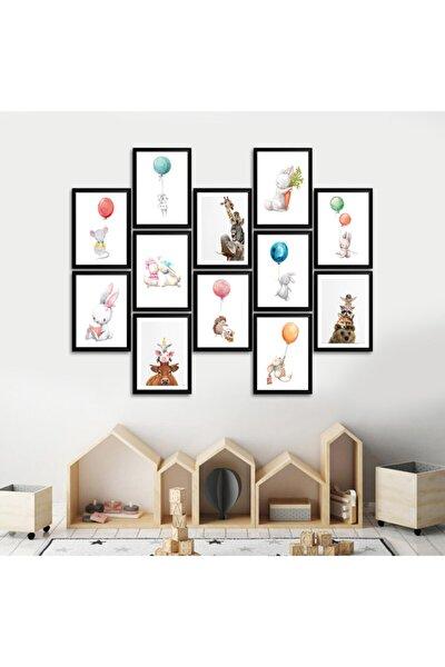 12 Parçalı Çerçeve Görünümlü Çocuk Odası Tablosu 15x20