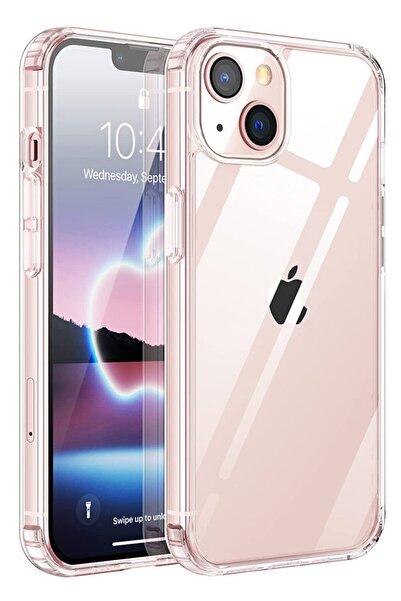 Iphone 13 Mini Kılıf (5.4 Inch) Şeffaf Yumuşak Silikon Kamera Korumalı Şarj Girişi Tıpalı