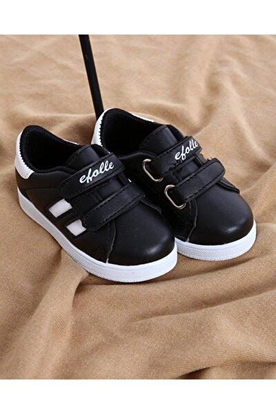 Çocuk Unisex Siyah Beyaz Günlük Spor Ayakkabı
