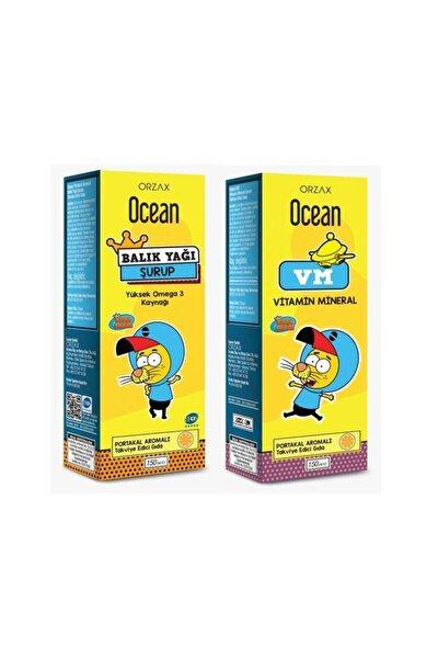 Ocean Plus Portakallı Balık Yağı 150 Ml - Vm Ikili Paket
