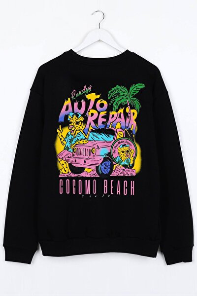 Auto Repair Siyah Unisex Sweatshirt