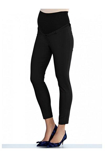 4113 - Kumaş Hamile Pantolonu Siyah