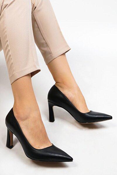 Kadın Siyah Stiletto Topuklu Ayakkabı Akuna