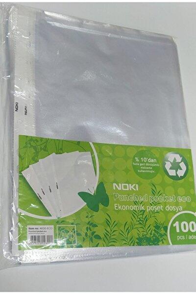 Nokı Eco Şeffaf Poşet Dosya A4 100'lü Paket