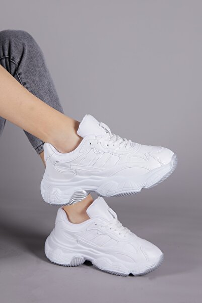 Kadın Beyaz Cilt Spor Ayakkabı Tb246
