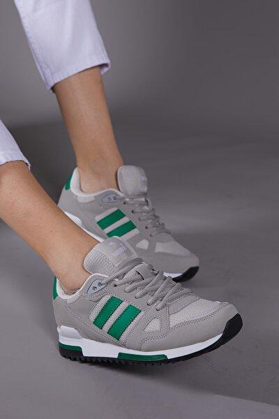 Unısex Gri Yeşil Spor Ayakkabı