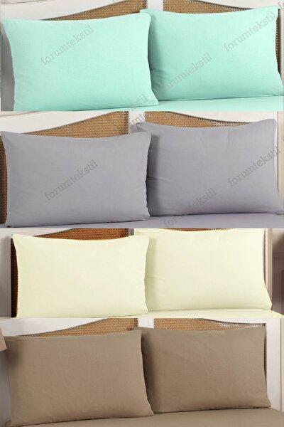 8 Adet Pamuklu Yastık Kılıfı Kapaklı 50*70 Cm