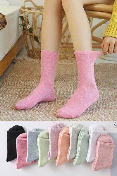 10 Çift Renkli Soket Çorap