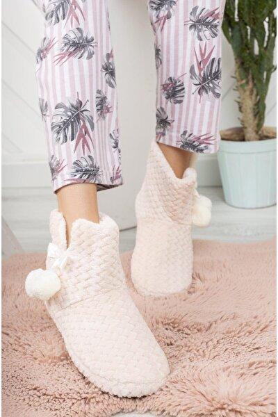 Modafrato Rp-zıgzag Kadın Panduf Ev Ayakkabısı Ev Botu