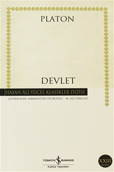 Devlet Hasan Ali Yücel Klasikleri  Platon Eflatun