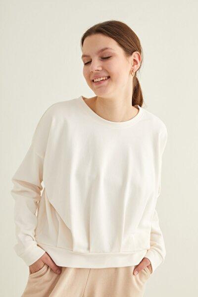Kadın Kemik Uzun Kollu Sweatshirt