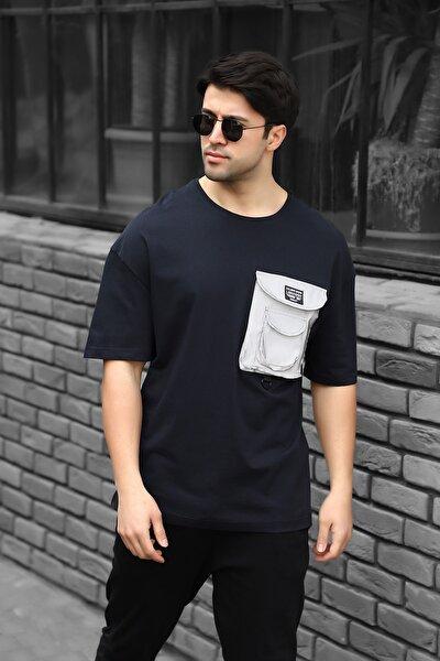 Reflektör Cep Detaylı Oversize T-shirt Ac-y36014lns